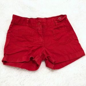 Janie and Jack Girls Red Shorts